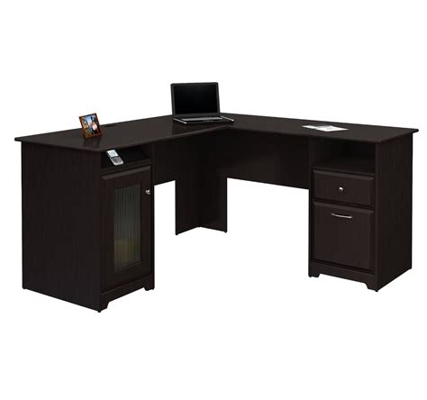 cabot l shaped desk bush signature cabot collection l shaped computer desk ebay
