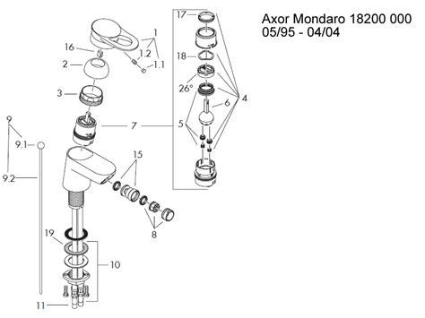 bath shower mixer tap spares hansgrohe axor mondaro bidet mixer tap shower spares and
