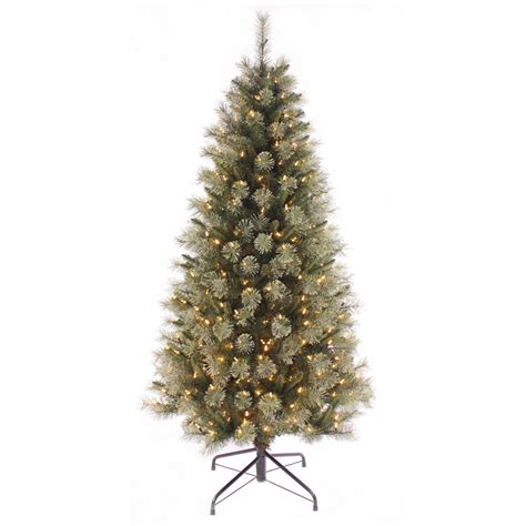artificial pre lit warm white led christmas tree
