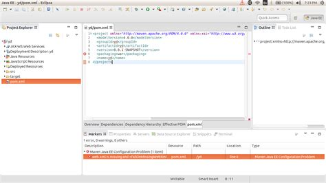 web xml web xml is missing and is s
