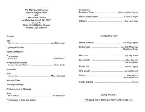church bulletin templates for word