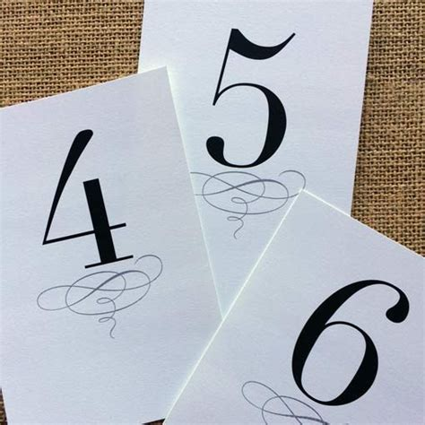 printable table number templates printable classic table numbers 1 12 design corral