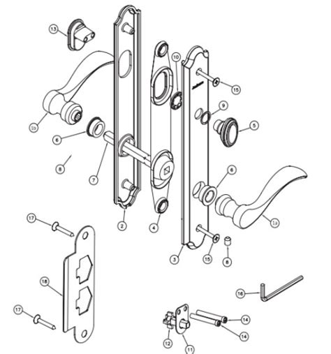 door handle parts peachtree door and window repair and replacement hardware