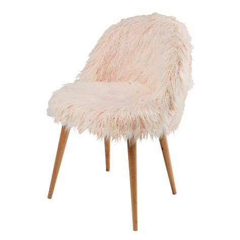 faux fur chair pink vintage style interior design