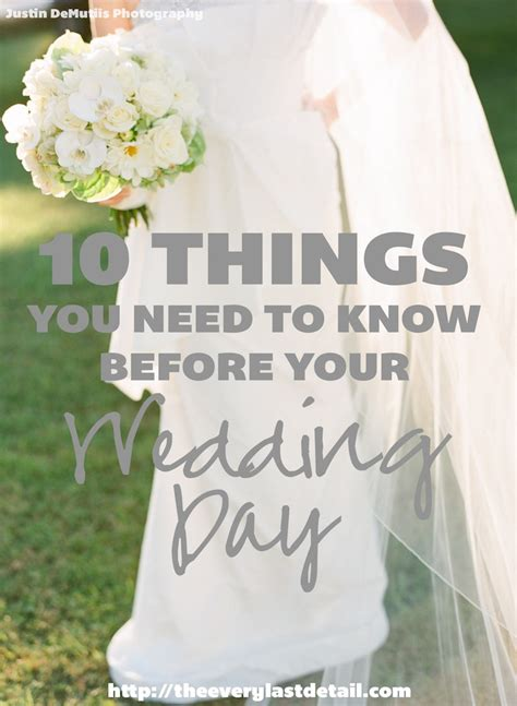 10 things you need to before your wedding day every last detail