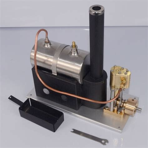 boat engine working live steam engine model single cylinder vertical marine