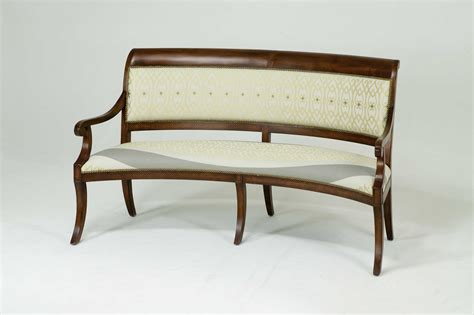 curved upholstered bench curved wooden upholstered dining bench with back and arms