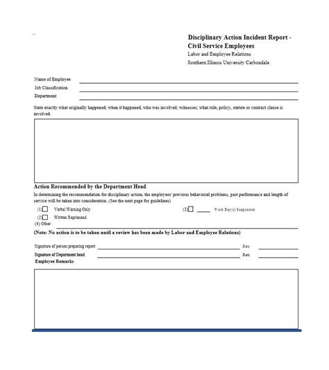discipline form template 40 employee disciplinary forms template lab