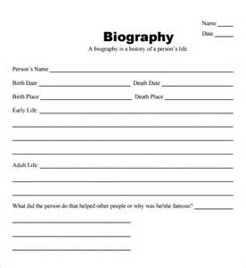 biography outline template 10 biography templates word excel pdf formats