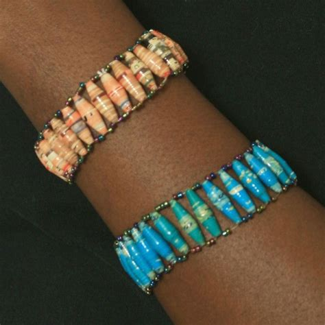 How To Make A Paper Bead Bracelet - paper bead bracelet in my quot spare quot time