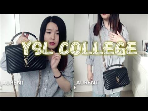 saint laurent college bag review ysl youtube