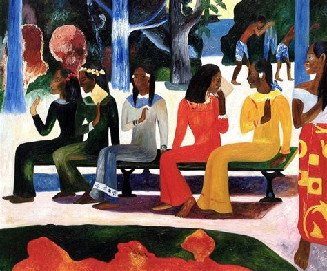 ta house painters paul gauguin ta matete we shall not go to market today hand painted oil painting on canvas