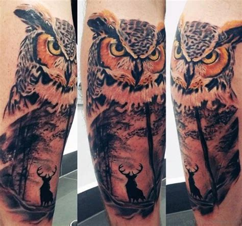 owl thigh tattoos 73 marvelous owl tattoos on leg