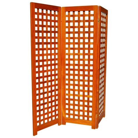 Tri Fold Room Divider Modern Teak Tri Fold Screen Or Room Divider With Basket Weave Design At 1stdibs