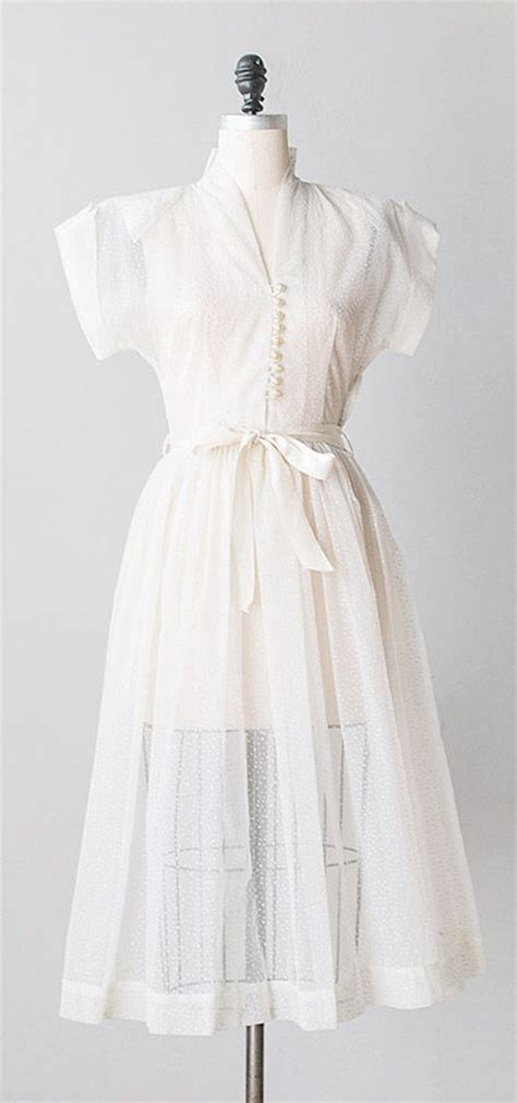 White Vintage Dress 17 best ideas about tailored dresses on sewing