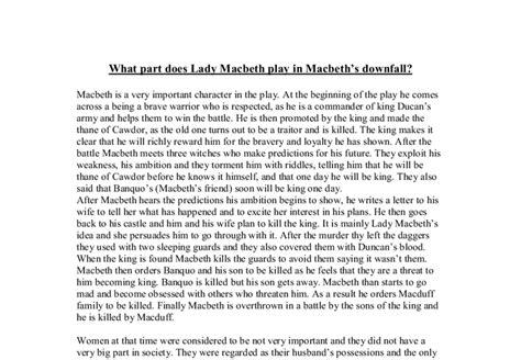Macbeth Downfall Essay by Macbeth Downfall Essay Essay On Ambition Macbeth Essay On Macbeth Theme Ambition Essay