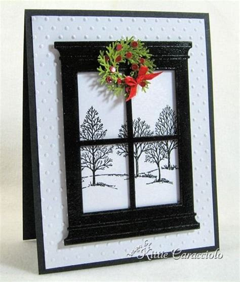 Wreaths In Windows Inspiration Wreath Window Card House Interior Designs