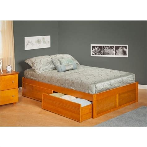 atlantic beds atlantic furniture concord bed with drawers in caramel
