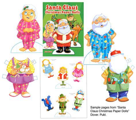 printable christmas paper dolls santa claus christmas paper dolls fun at the north pole