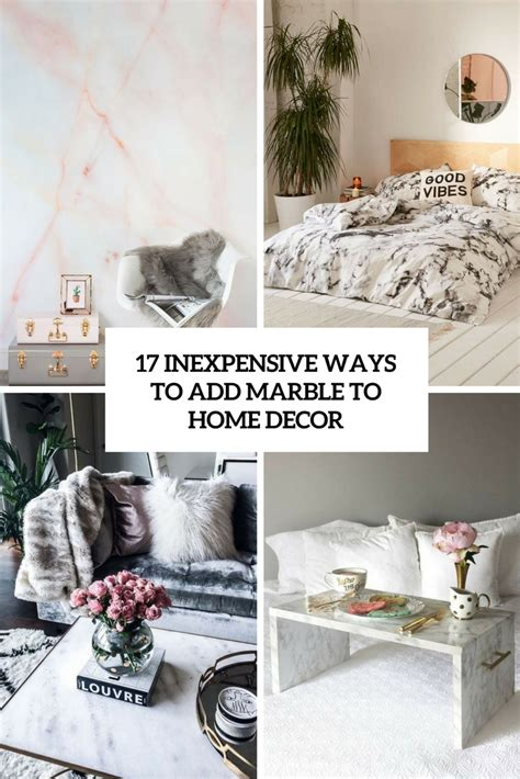 inexpensive ways to decorate your home 17 inexpensive ways to add marble to home d 233 cor shelterness