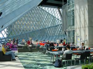 Seattle Library Living Room Central Library Okatech Facade Seattle Library