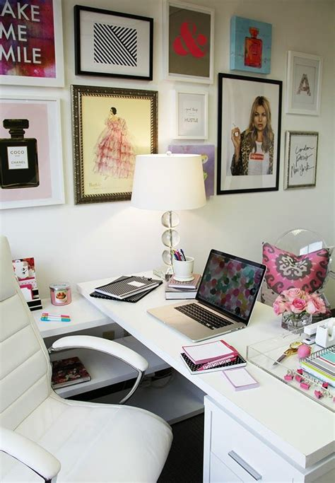 chic office decor happy chic workspace home office details ideas for homeoffice interior design