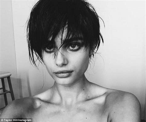 what victoria secert model has short hair on the sides and the back victoria s secret angel taylor hill debuts shocking pixie