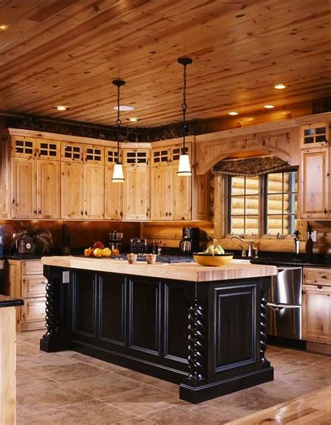 beautiful kitchen design home designs pinterest elegant best 25 log cabin kitchens ideas on pinterest home