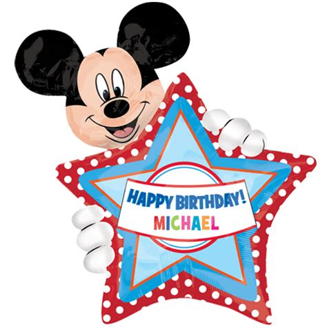 happy birthday mickey mouse design 24 quot mickey mouse personalised birthday foil balloon