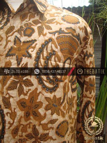Manisha Batik Kemeja Sogan Genes jual kemeja batik cap tulis motif bledak gurdo