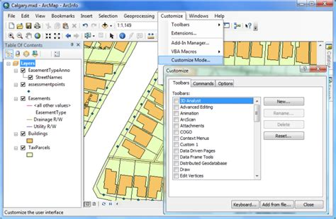 arcgis layout mode about configuring the user interface help arcgis for desktop