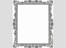 Decorative clip-art Victorian border, Black and White ... Diploma Scroll Vector