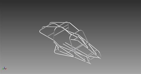 design frame inventor two seat rear engine dune buggy frame stl step iges