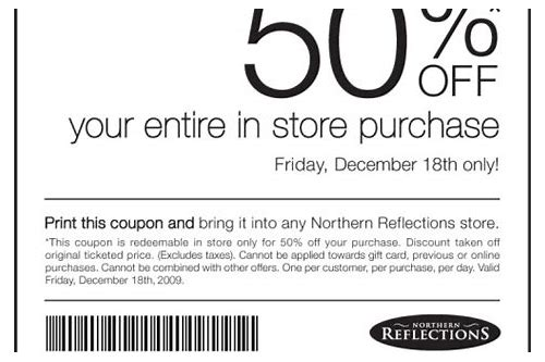 new reflections coupons
