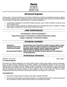 Structural Engineer Resume by Structural Engineer Resume Sle Free Resumes Tips
