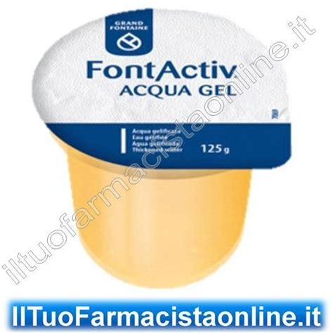 alimenti per disfagici acqua gelificata pronta per disfagici 12 vasetti x125g