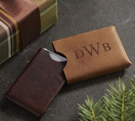Leather Business Card Holder For