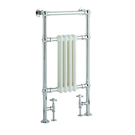Hydronic Heated Towel Rack Hudson Reed Chrome White Traditional Hydronic Towel