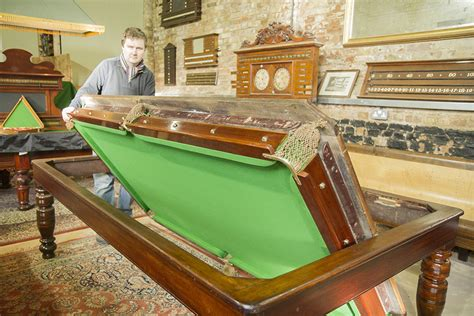 Burgess 7ft Rollover Antique Snooker Dining Table Playing Antique Snooker Dining Table