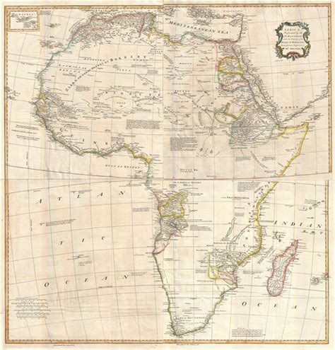 africa map 1747 africa performed by the sr d anville the patronage