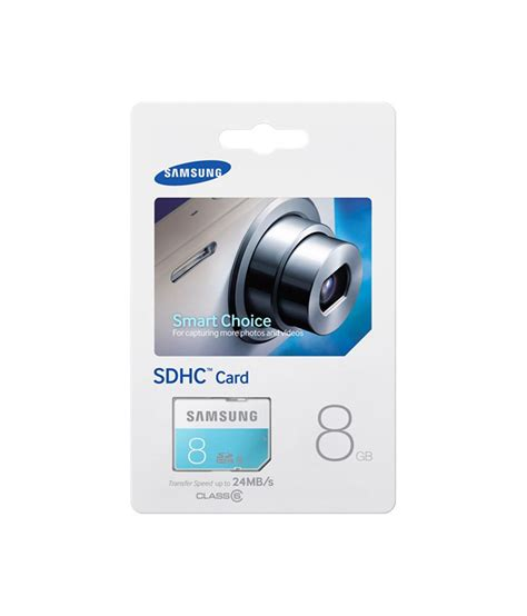 Memory Card Samsung 8gb Class 6 samsung sdhc 8 gb class 6 price in india buy samsung sdhc