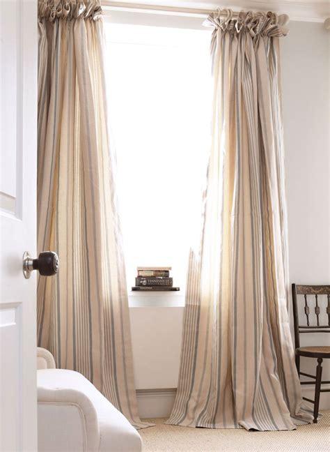 blue ticking curtains kate forman design window