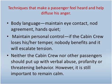 Cabin Crew Language by How To Handle Angry Passengers