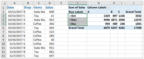How To Ungroup Dates In An Excel Pivot Table