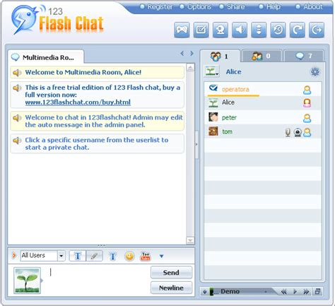 vietfun chat room add a room user manual of 123 flash chat server software version 9 1