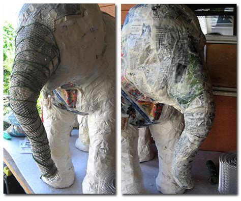 How To Make A Paper Mache Elephant - baby elephant is progressing ultimate paper mache