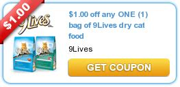 printable 9 lives cat food coupons 3 5lb bag of 9 lives cat food only 2 88 at walmart