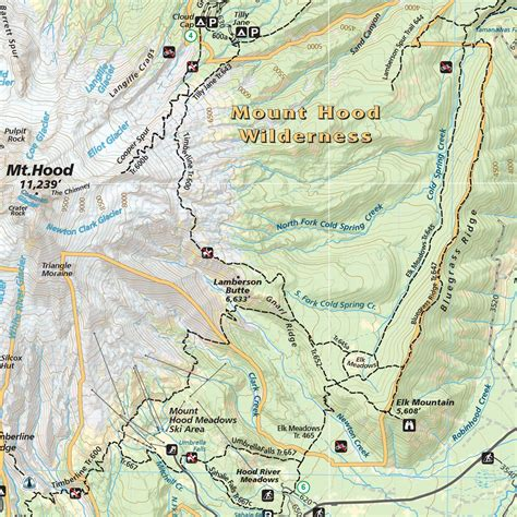 map of oregon mt mt area hiking climbing map guide