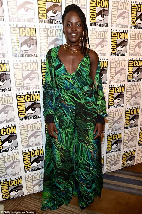 Pattern Lupita Dress lupita nyong o stuns in green jumpsuit and matching cape for the premiere of the black panther