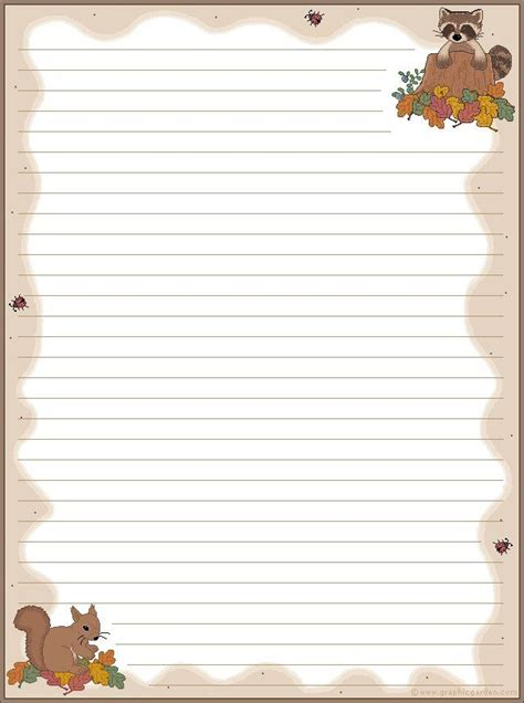 printable fall stationery paper 29 best free printable stationary images on pinterest